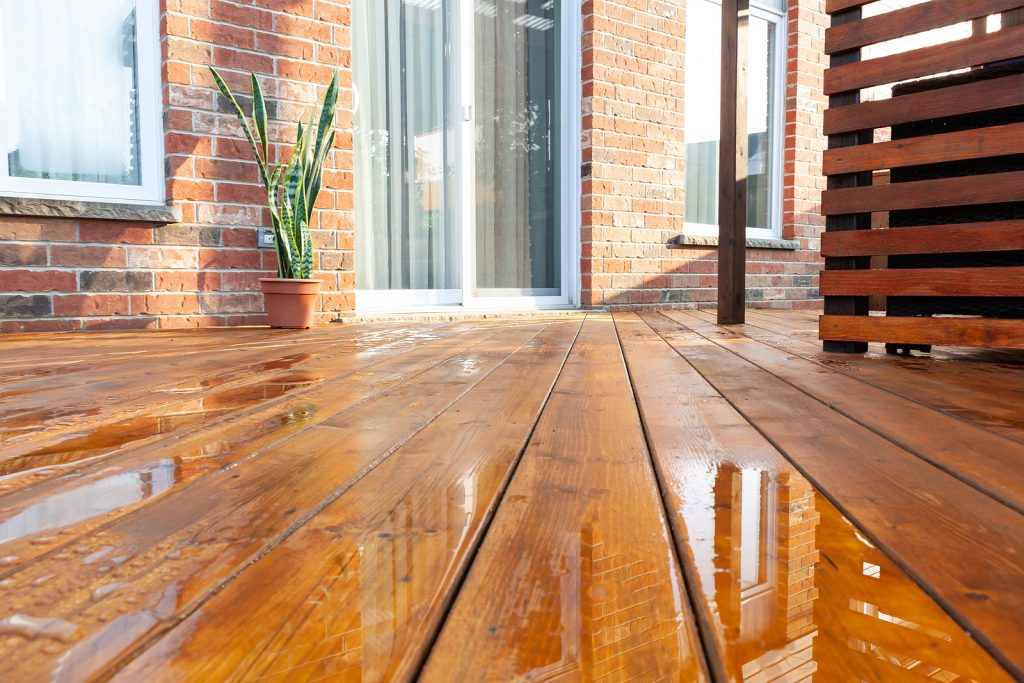 Backyard using Sydney timber flooring