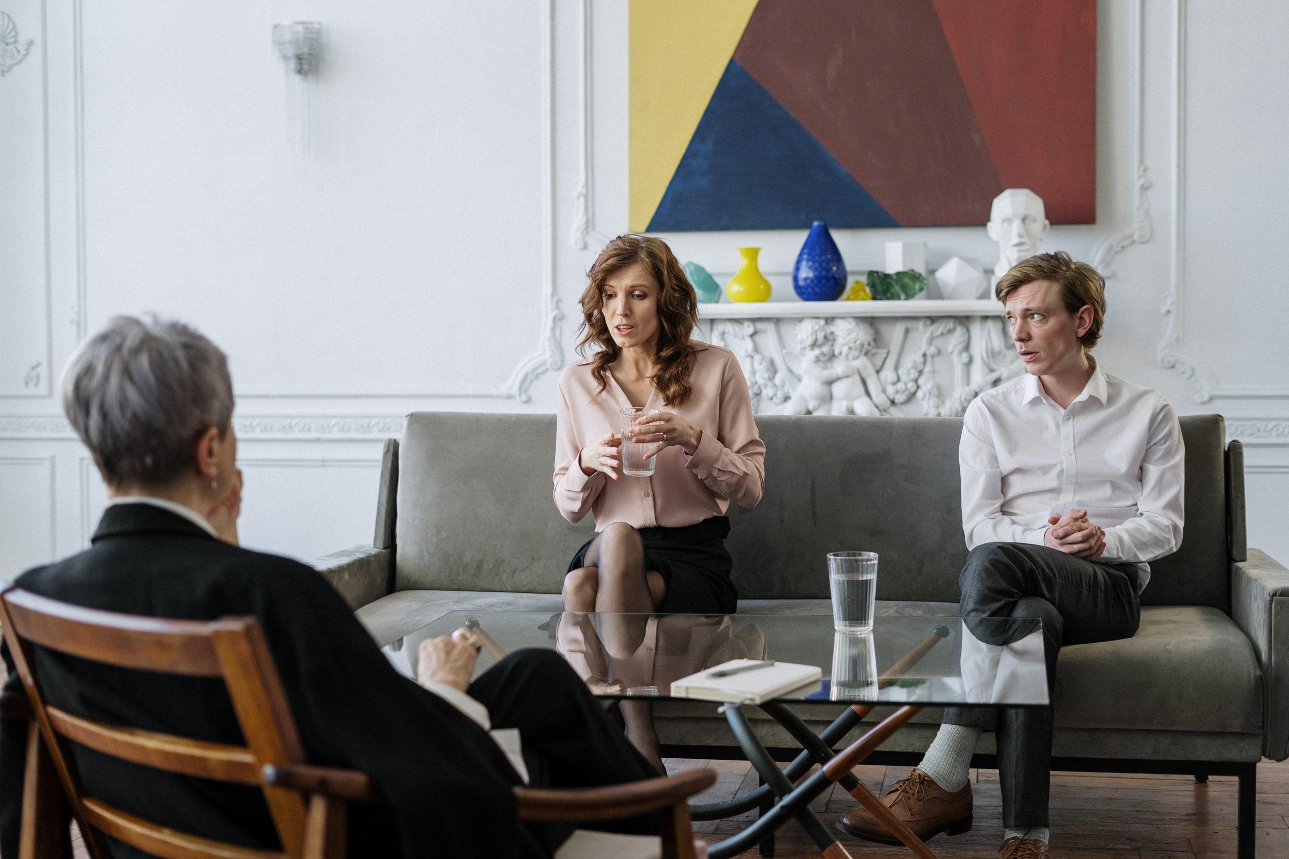 Couple attending a mediation in Sydney